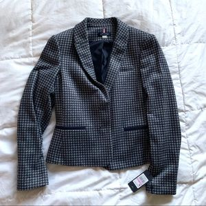 Tommy Hilfiger Houndstooth Elbow Patch Blazer 6